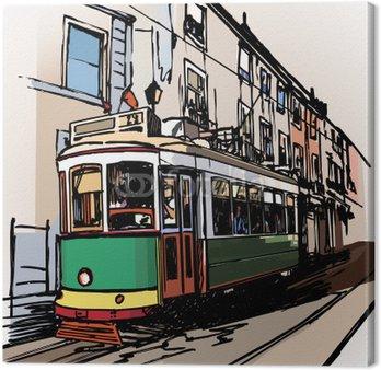 Typowy tramwajów w Lizbonie