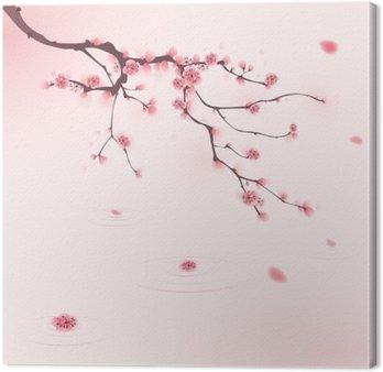 Malarstwo styl orientalny, kwiat wiśni wiosną