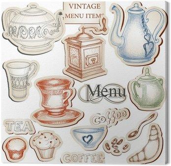 Vintage, narzędzia kuchenne i zestaw ikon żywności