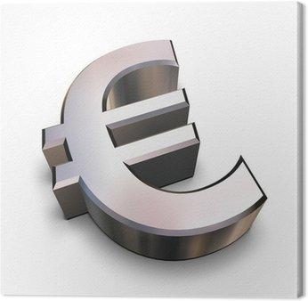 3d chrom symbol euro