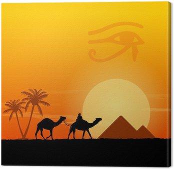 Symbole Egipt i piramidy