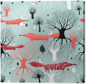 Wzór drzew i lisy
