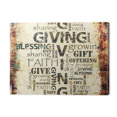 Nadanie Udostępnianie Offering i tło Blessing