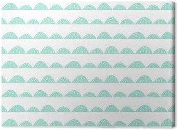 Skandynawski szwu mięty wzór w stylu rysowane ręcznie. Stylizowane rzędy Hill. Fala prosty wzór do tkanin, tkanin i bielizny niemowlęcej.