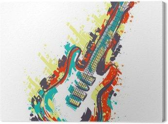 Gitara elektryczna. Ręcznie rysowane stylu grunge sztuki. Retro transparent, kartka, koszulka, torba, druk, poster.Vintage kolorowe ręcznie rysowane ilustracji wektorowych