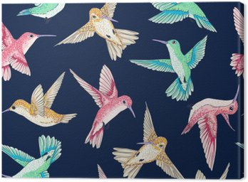 vector seamless flying little birds of paradise conversational pattern multi color, spring summer time, gentle romantic humming-bird, colibri background allover print design