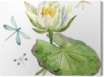 Akwarela kwiat lotosu