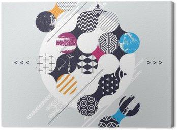 Kompozycja abstrakcyjna geometrycznej z kręgów dekoracyjnych