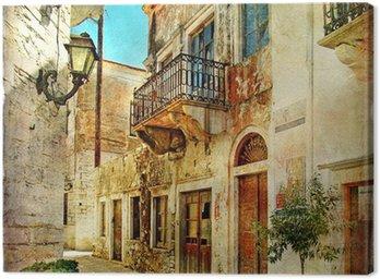Obrazkowych stare uliczki Grecji