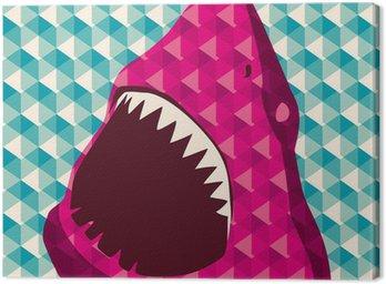 Geometric tło z rekina.