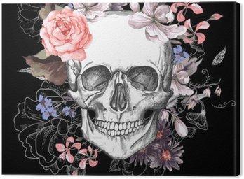 Czaszki i kwiaty dzień żyje