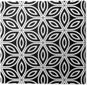 Wektor bez szwu święty wzór nowoczesnej geometrii, czarno-białe abstrakcyjne geometryczne kwiat tle życia, tapety druku, monochromatycznych retro tekstury, projektowanie mody hipster