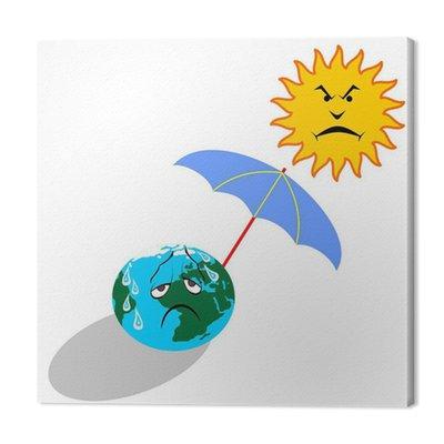 Globalne ocieplenie ilustracji wektorowych