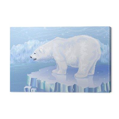 Niedźwiedź polarny stojących na krze