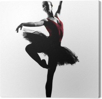 Młoda kobieta balet tancerz