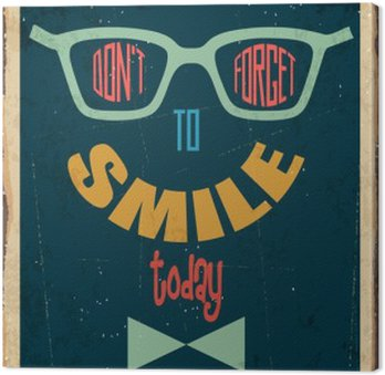 """Retro metal sign """" Dont't forget to smile"""""""
