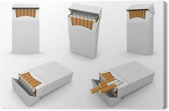 5 paczek papierosów 6000px szablonu