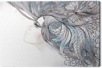 Włosy ozdobną z liści