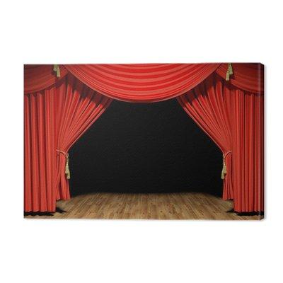 Red Stage aksamitne zasłony teatr