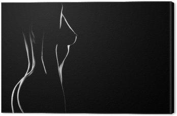 Sexy ciało nagie piersi kobieta. Naked zmysłowy