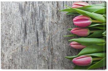 Tulipany na drewno