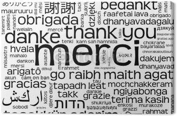 """Nuage Tagi de """"Merci"""" (komunikat dziękuję danke gracias)"""