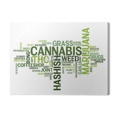 """CANNABIS"" Tag Cloud (trawa marihuana narkotyki joint chwast haszysz)"