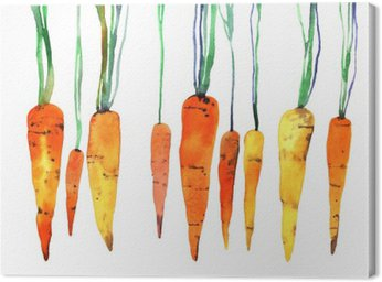 watercolor hand painted carrot