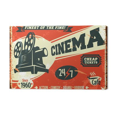 Grunge retro kinowy plakat. ilustracji wektorowych.