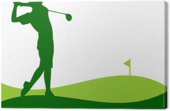 Golfe - Jogador dando uma tacada