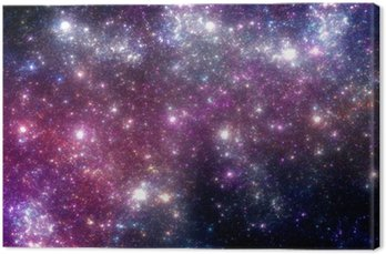 Stars background. Purple galaxy.