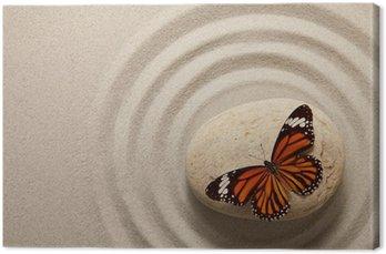 Zen rock z motylem