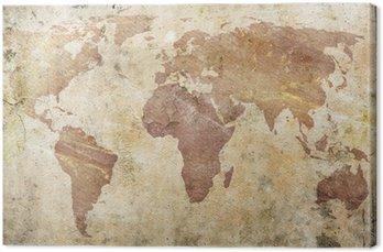 Vintage, mapa świata