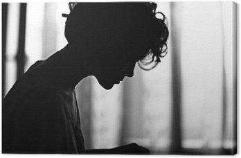 silhouette girl portrait