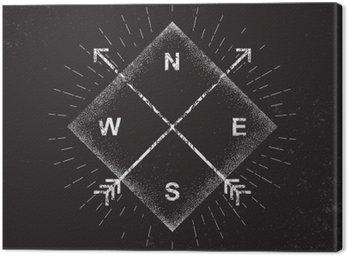 Arrows, compass, grunge design, vector illustration