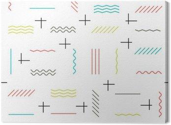 Geometryczne linie bez szwu deseń kolorowe. Cienkie linie wzoru. H