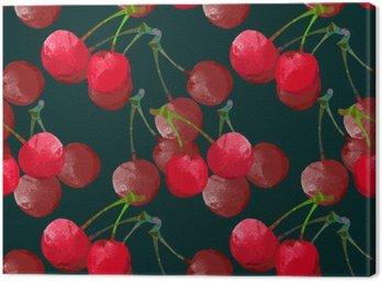 Jednolite wzór z akwareli wiśni