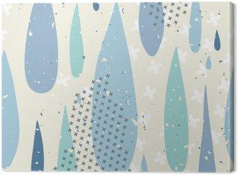 Krople deszczu szwu wzór