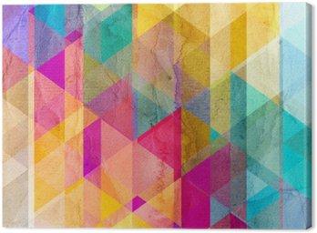 Akwarela geometryczne tło z trójkątów