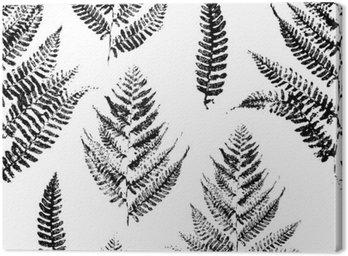 Jednolite wzór z nadrukami farby liści paproci