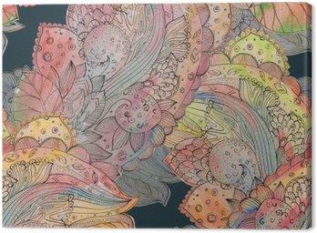 Moda bezszwowych tekstur z abstrakcyjnego kwiatowy wzór. watercolo
