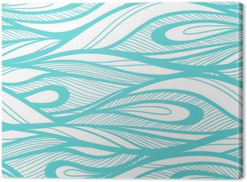 Abstract hand drawn illustration, waves background.