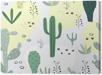 Seamless pattern with succulents.