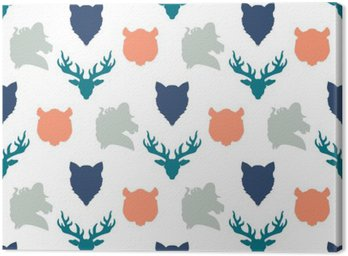 Wildlife seamless pattern