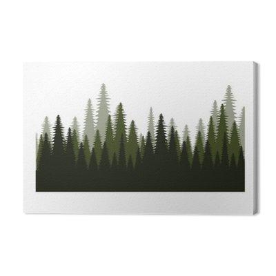 Pole drzew leśnych ikona ilustracja wektora projektowania