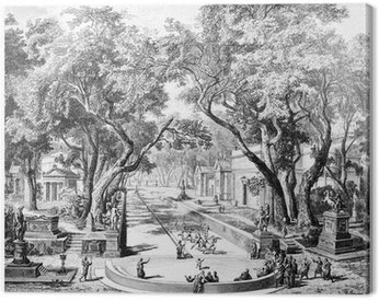 Wiktoriański grawerowanie dawnej sceny miasta w Sparta, Grecja