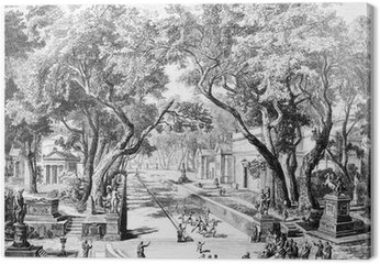 Victorian engraving of an ancient city scene in Sparta, Greece