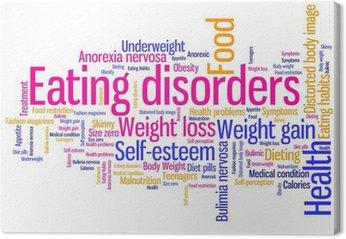 Zaburzenia odżywiania słowa - ilustracja tag cloud