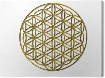 Sakralna Symbol Kwiat życia w 3D
