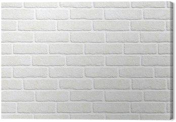 Białym tle ceglanego muru